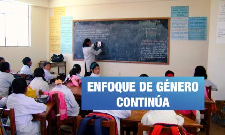 Currículo Escolar con enfoque de género será implementado el 2020