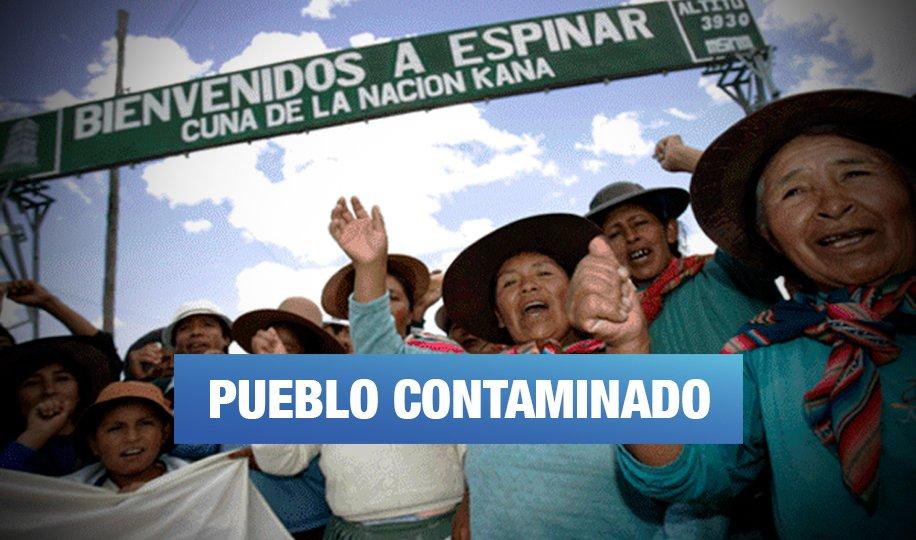 Espinar: Marchan para exigir declaratoria de emergencia por contaminación