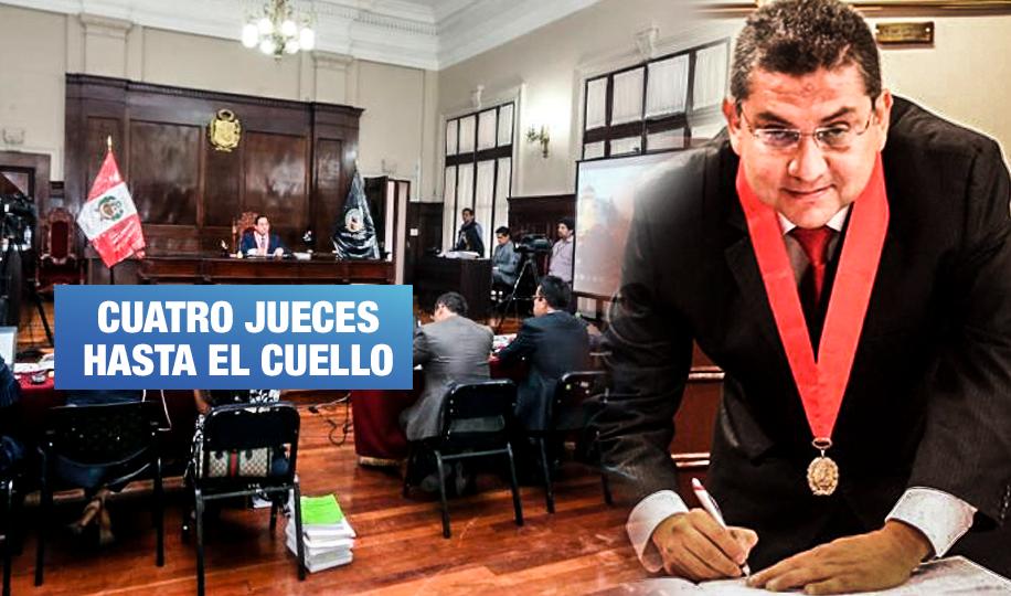 PJ ordenó prisión preventiva contra 4 jueces vinculados a 'Los Cuellos Blancos del Puerto'