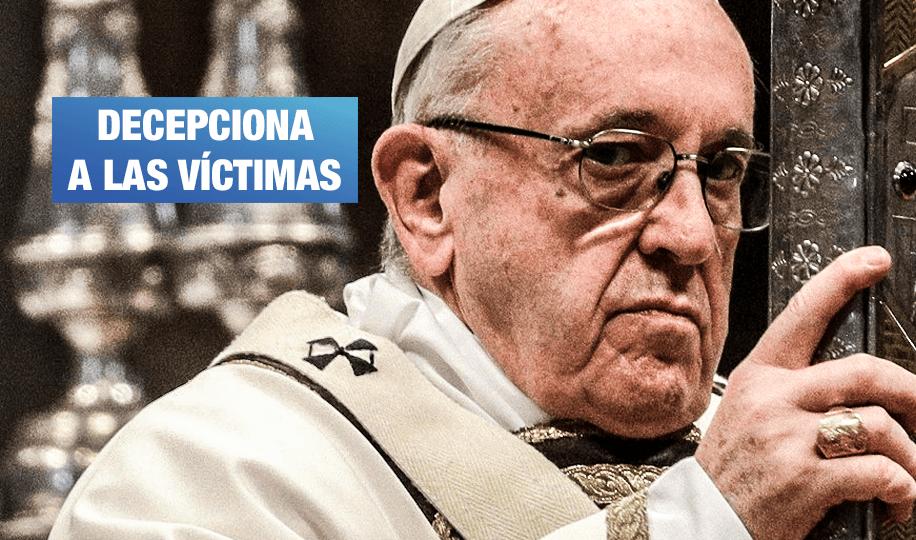 Víctimas critican débil mensaje del papa Francisco sobre curas pederastas
