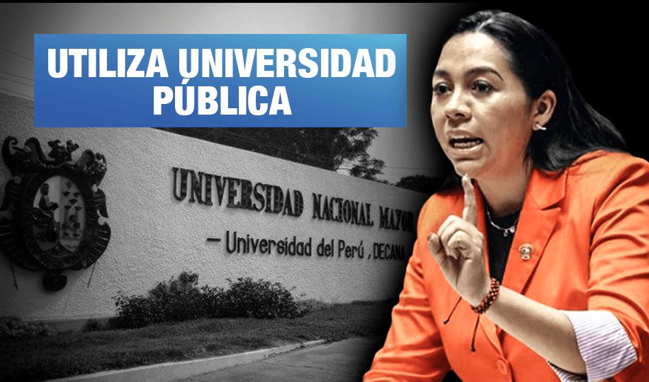 Congresista Nelly Cuadros lleva campaña contra enfoque de género hasta la UNMSM