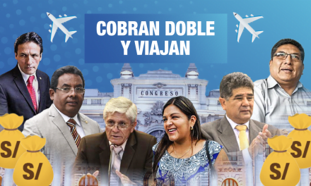 Los congresistas que cobraron doble