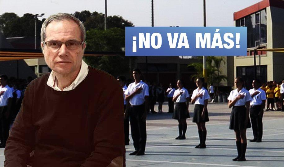 Renunció exsodálite a dirección del colegio Liceo Naval