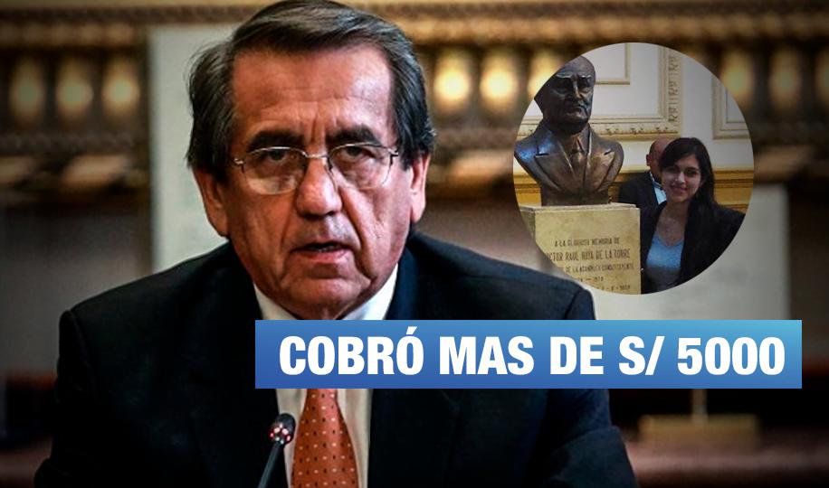 Jorge Del Castillo: Asesora recibió sueldo a pesar de estar fuera del país