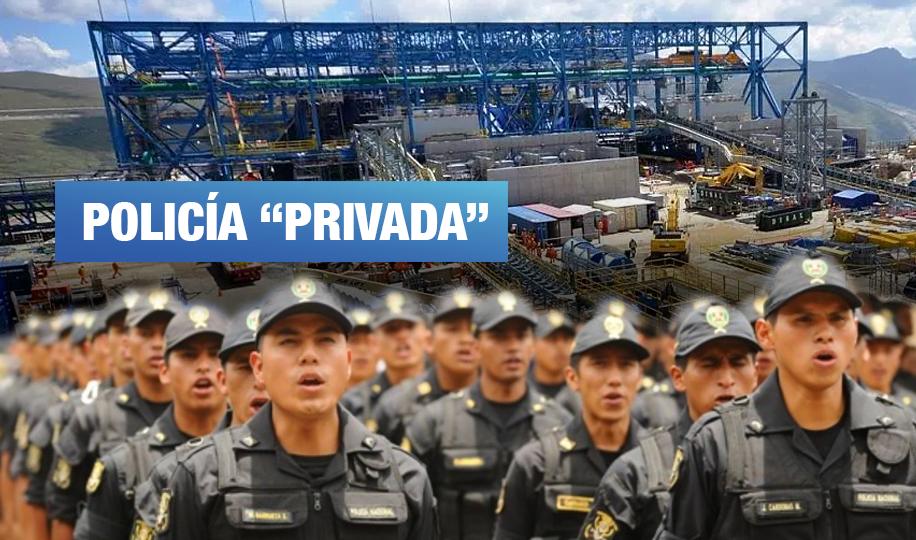 Presentan demanda para anular normas que permiten convenios entre la PNP y empresas extractivas