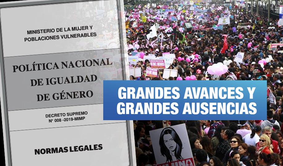 ¿De qué trata la Política Nacional de Igualdad de Género promulgada por el gobierno de Vizcarra?