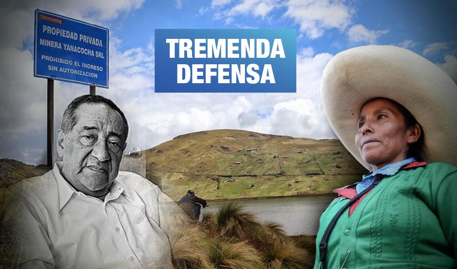 Estudio Oré defendió a la minera Yanacocha en juicio contra Máxima Acuña
