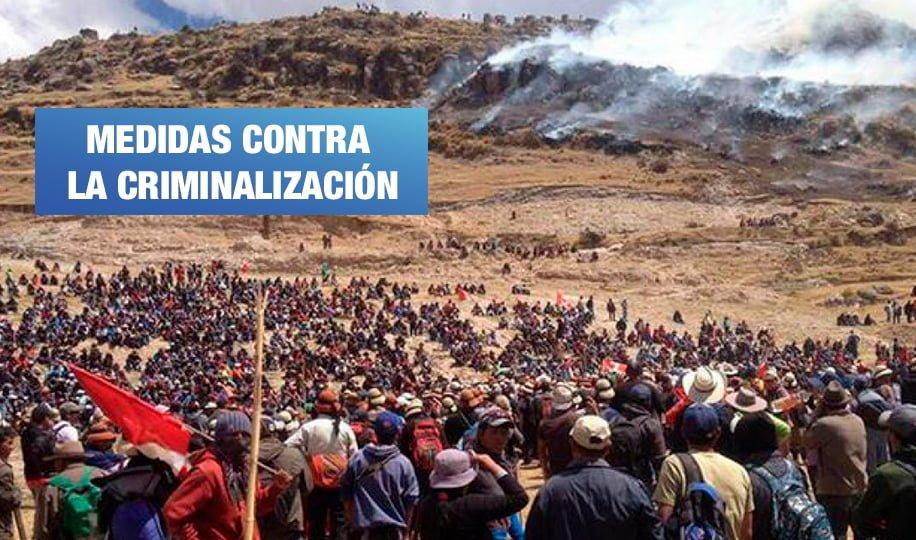Las Bambas: proponen derogar leyes que penalizan la protesta