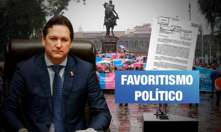 Salaverry autorizó mitin de movimiento conservador dentro del Congreso