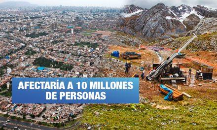 Proponen medidas para detener proyecto minero que amenaza agua de Lima y Callao