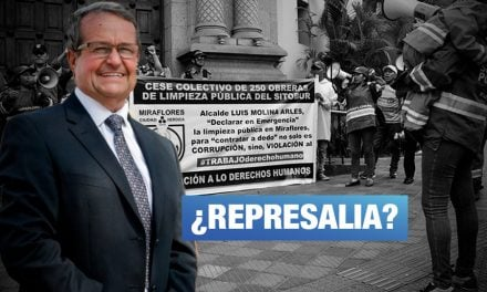 Alcalde de Miraflores demanda a dirigente de sindicato de limpieza