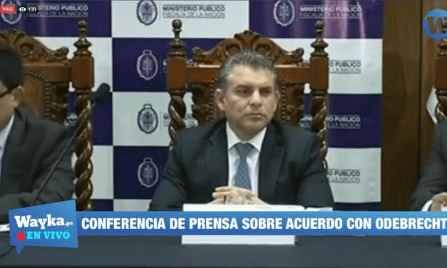 [EN VIVO] Conferencia de prensa sobre acuerdo de colaboración con Odebrecht