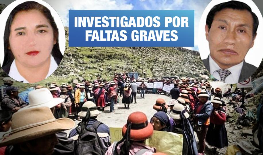 Suspenden a dos jueces a cargo de denuncias contra comuneros de Fuerabamba