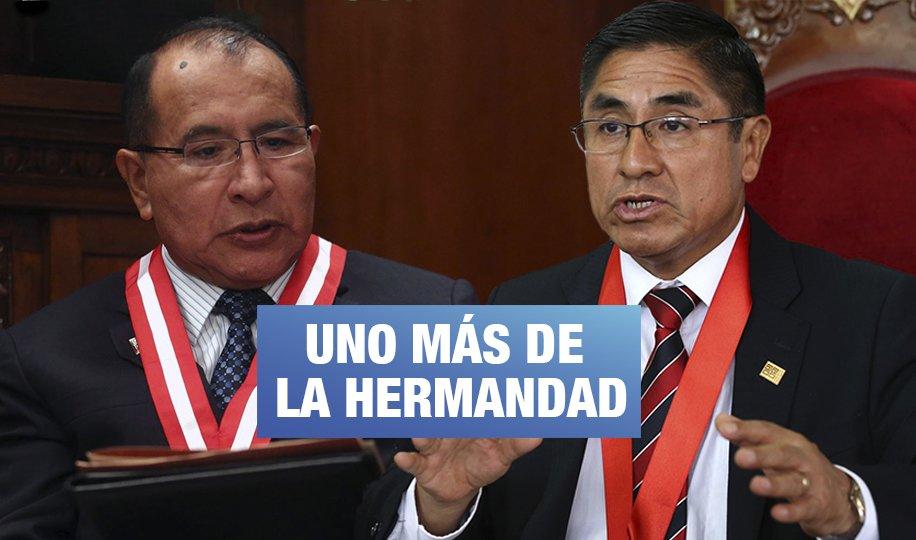 Audios revelan trueque de favores entre Hinostroza y el presidente del JNE
