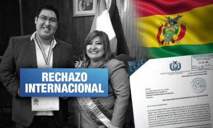 Bolivia anula reconocimiento otorgado a vocero de Con mis hijos no te metas