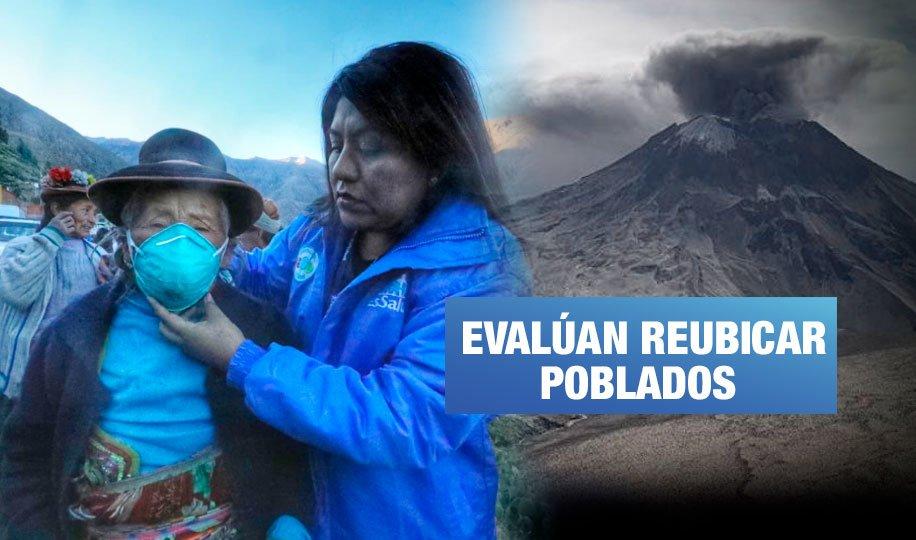 Volcán Ubinas: Inician plan de emergencia en zonas afectadas