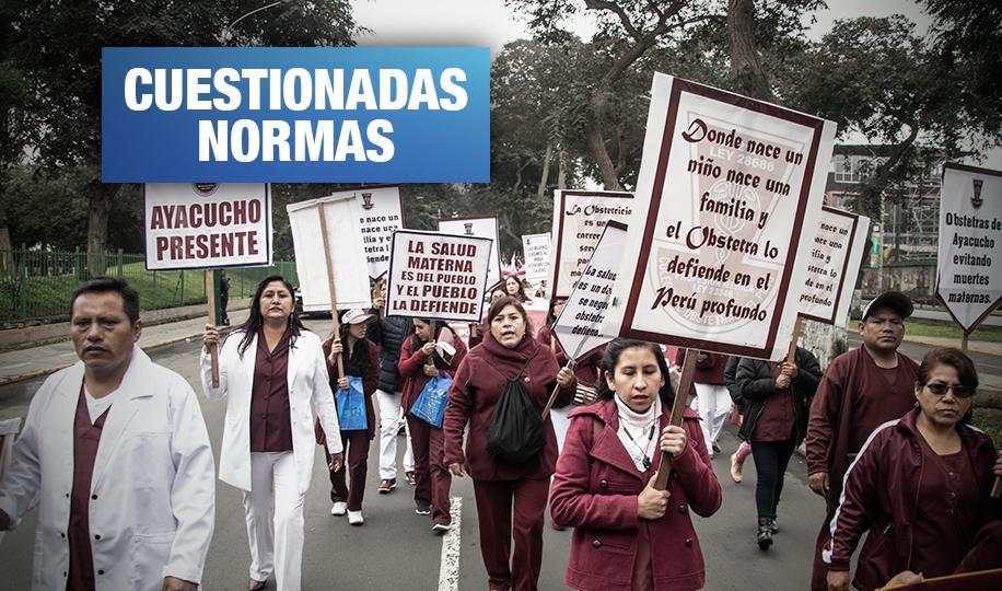 Obstetras protestan contra el Minsa por vulnerar derecho a la salud de las mujeres