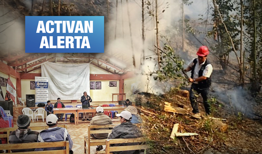 Indeci realiza acciones en regiones para prevenir incendios forestales