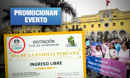 Grupo vinculado a Con mis hijos no te metas usa logo de Municipalidad de Lima sin autorización