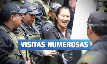Keiko Fujimori recibió 536 visitas entre enero y julio de 2019