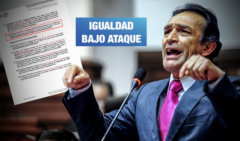 Fujimorista Becerril insiste en ley para eliminar enfoque de género