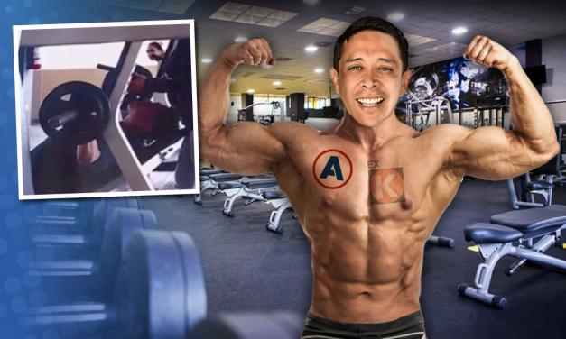 [GRÁFICA] Congresista Miguel Castro en el gimnasio