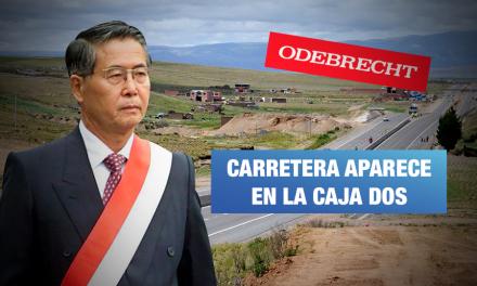 Odebrecht: obra de gobierno de Fujimori aparece en registro de pagos ilícitos