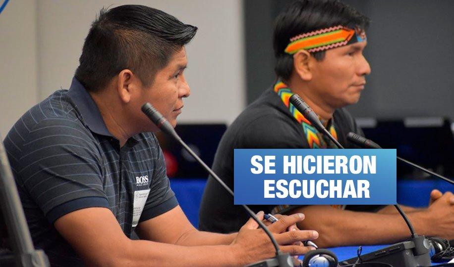 Indígenas afectados por actividad petrolera reclamaron ante la CIDH