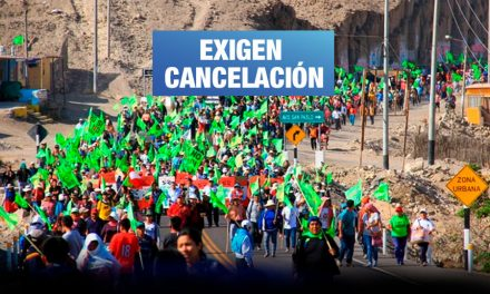Tía María: Anuncian paro de la Macro Región sur para el 16 de septiembre