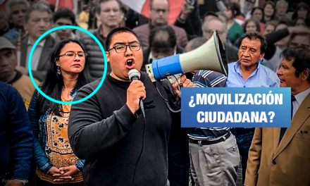 Extrabajadora aprista del Congreso es vocera de marcha contra disolución
