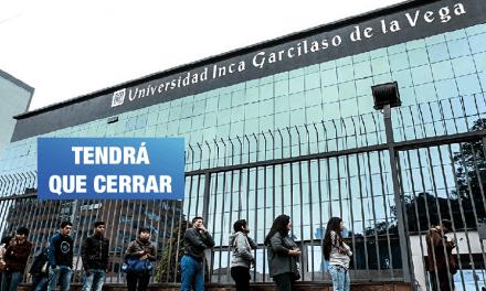 Sunedu niega licencia a la Universidad Inca Garcilaso de la Vega
