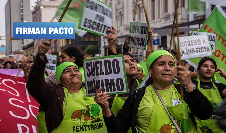 Candidatos de 5 partidos impulsarán derechos para trabajadoras del hogar en la próxima legislatura