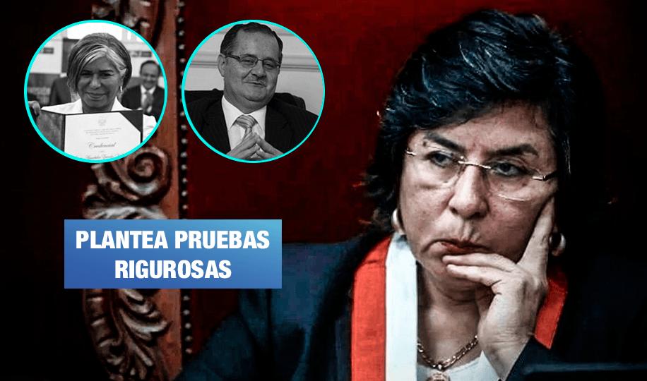 JNJ: Presidenta del TC propuso que candidatos Falconí y Zavala pasen por el polígrafo