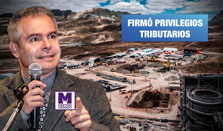 Pedro Gamio, el candidato del Partido Morado que jugó a favor de minera Volcan