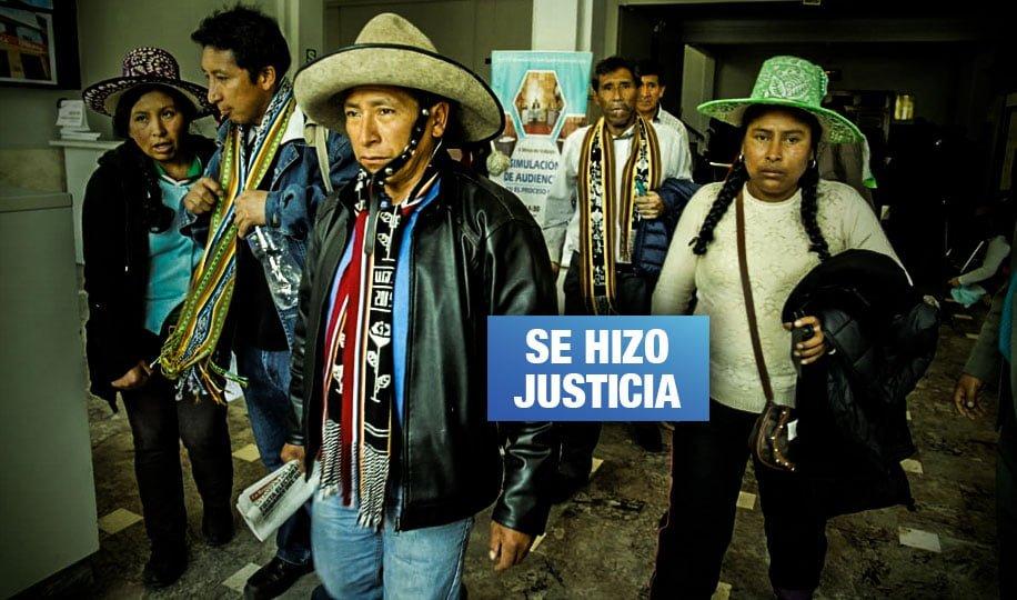 Cusco: PJ absuelve a defensores ambientales de Chumbivilcas enjuiciados por minera