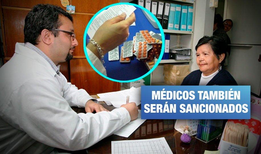 Clínicas y hospitales que no receten genéricos recibirán multa de hasta S/ 430 mil
