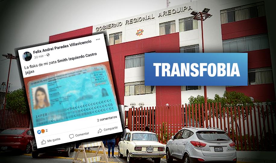 Arequipa: Despiden a trabajadores del Gobierno Regional por discriminar a ciudadana trans