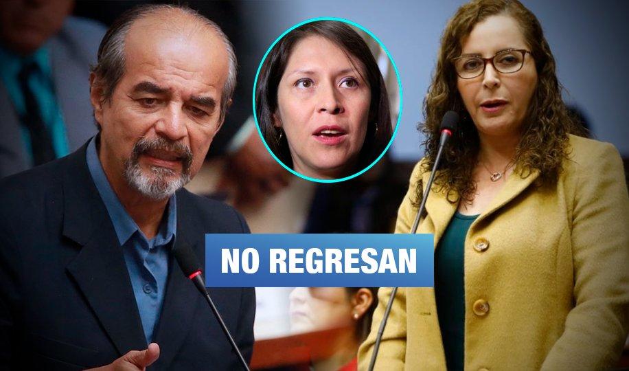 Apristas y fujimoristas que no lograron reelegirse en el nuevo Congreso