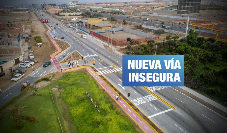 Municipio de Lima reconoce fallas en obra realizada en antigua Panamericana Sur