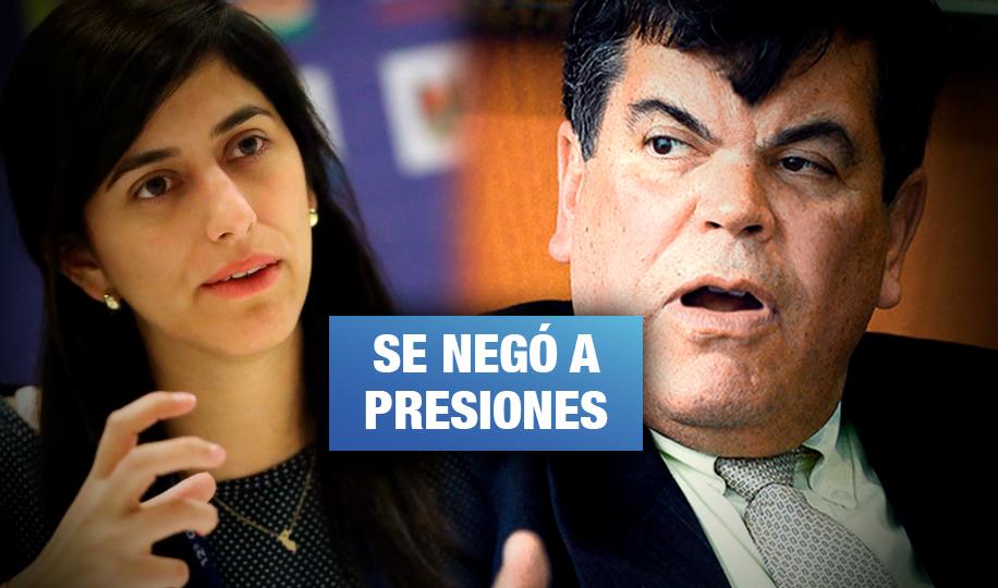 Audio revela insultos de presidente de Petroperú a ministra de Economía