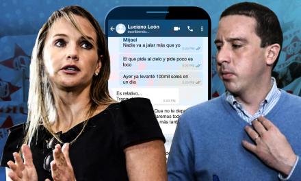 [GRÁFICA]: Los chats de Luciana León