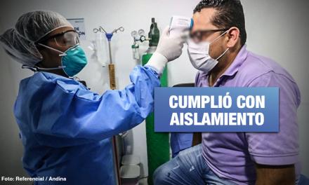 Coronavirus: paciente cero en Perú se recuperó satisfactoriamente