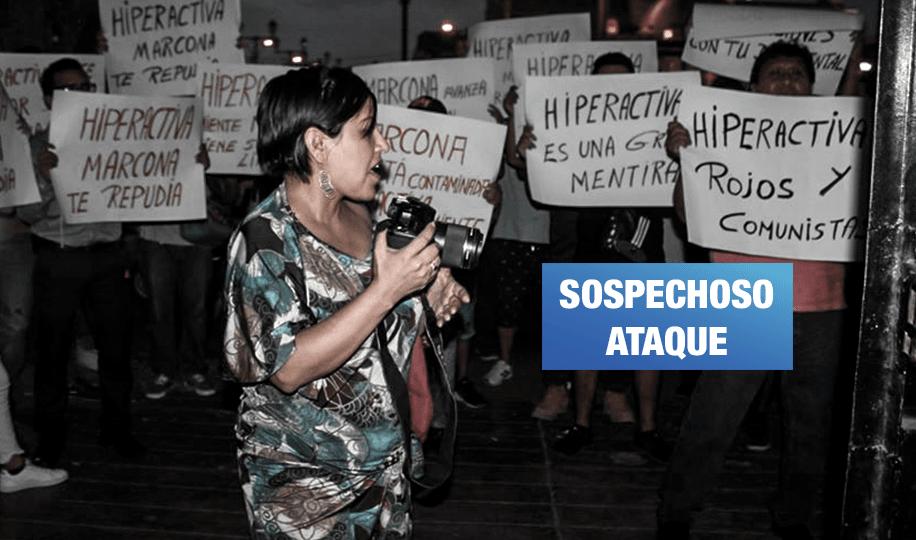 Portátil agrede a directora de documental sobre impacto ambiental de la minera Shougang