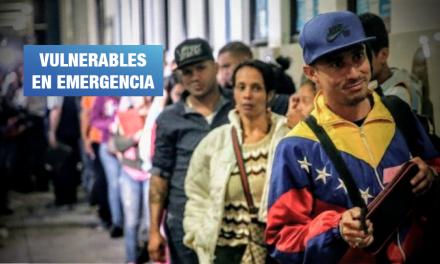 Cerca del 80% de migrantes venezolanos no cuenta con dinero para alimentarse