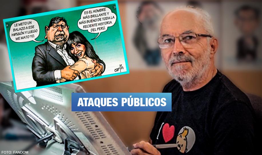 Fiscalía puede abrir investigación de oficio por amenazas a caricaturista «Carlín»