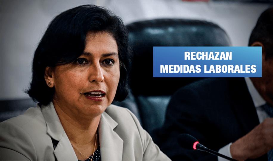 Sindicatos exigen la renuncia de la ministra de Trabajo Sylvia Cáceres