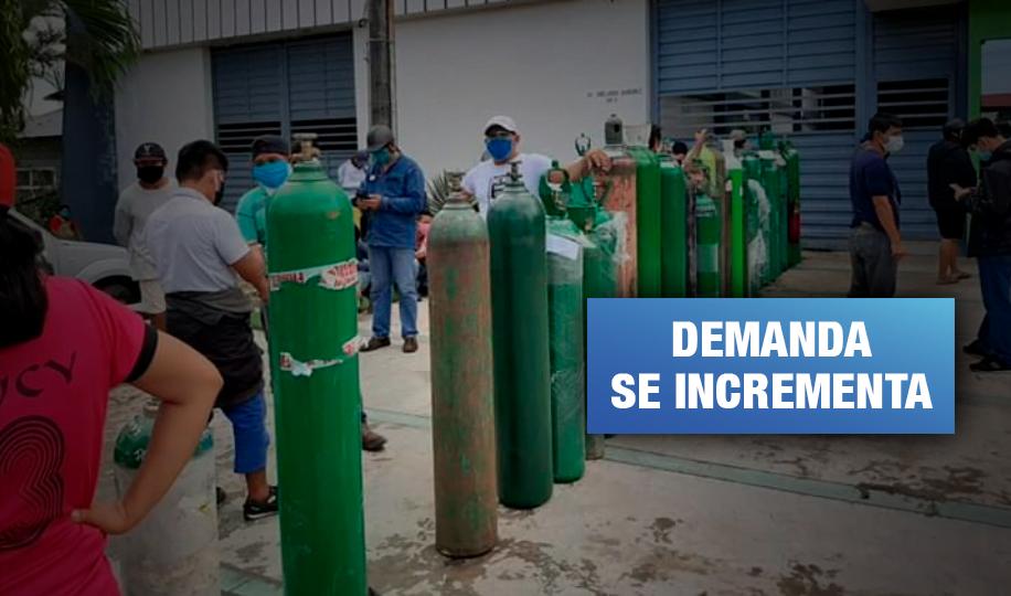 Iquitos: Cobran hasta S/ 3 800 por balón de oxígeno para pacientes con COVID-19