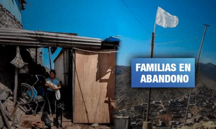 Las banderas blancas del hambre en los cerros de Villa María del Triunfo