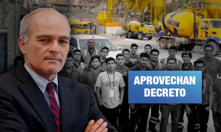 Expresidente de Confiep es director de consorcio dueño de empresa que suspendió contratos a trabajadores