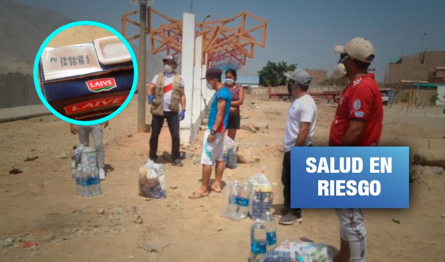 Comunidad awajún en Lima recibió canastas con leche a punto de caducar